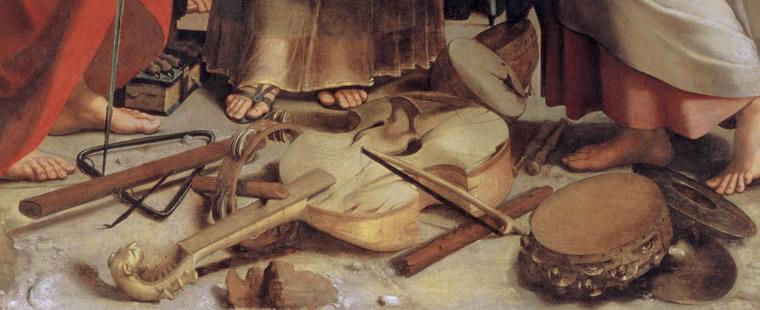 Raffael, Die Verzückung der heiligen Cäcilia (Detail), um 1514