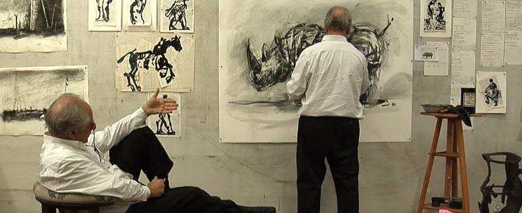 William Kentridge, Drawing Lessons (Video Still)